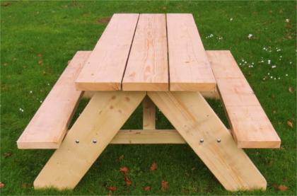 Handmade designer picnic benches charmed wood